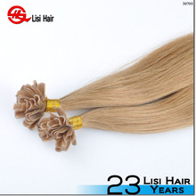 1g strands double drawn ombre remy prebonded keratin human hair u tip extensions artificial nail tip hair