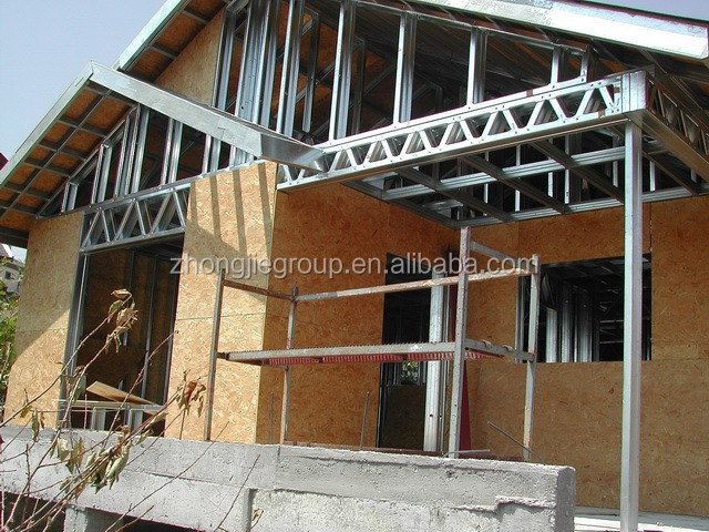Hot Selling Light Gauge Steel Frame HouseQuick Assembly Prefab