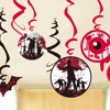 Wholesale Halloween Party Decoration Set PVC Colorful Ceiling Hanging Swirl