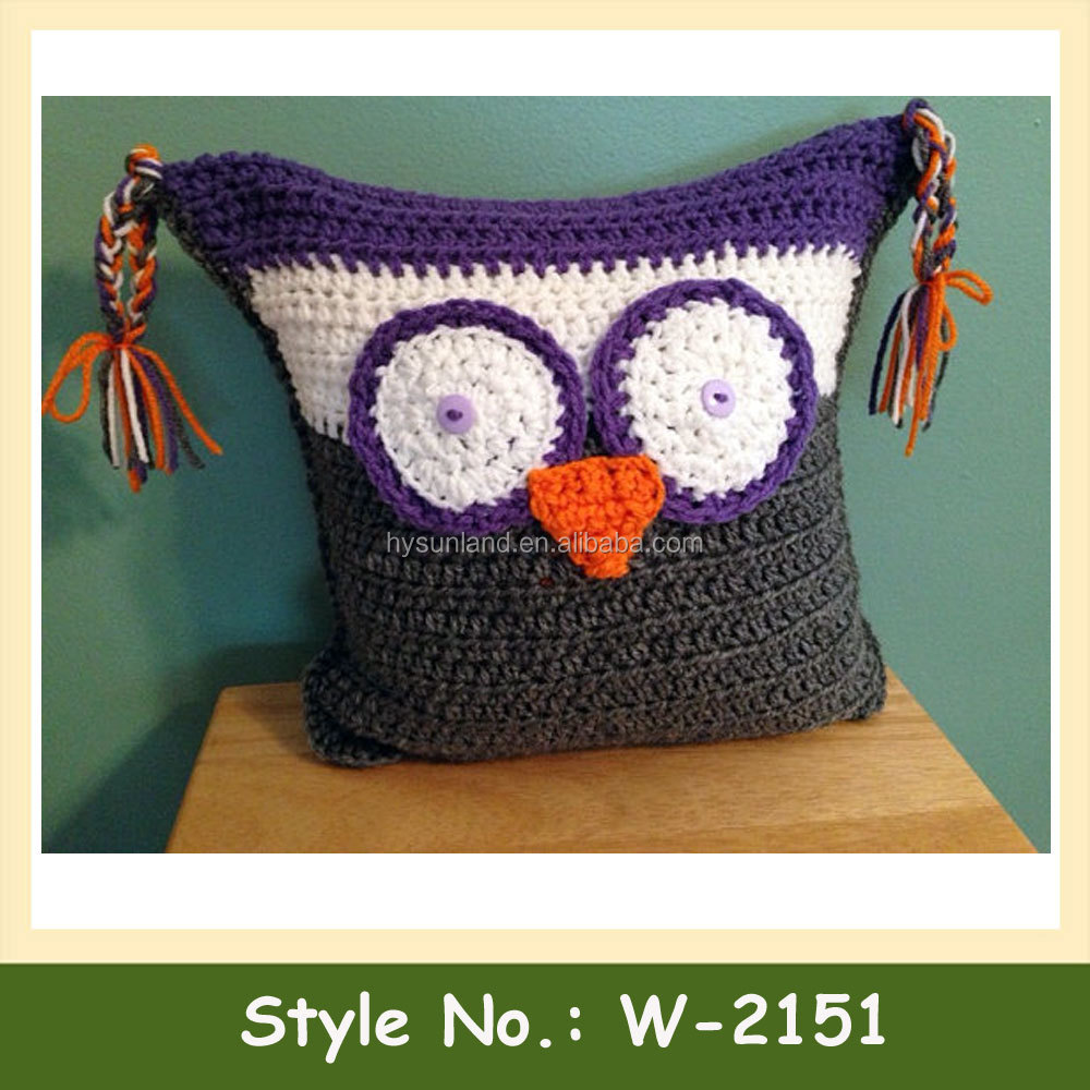 W-2151 Animal Pattern Owl Pillow Cushion Cover Handmade Seat Cushion ...