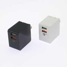 2018 Best wholesale micro wall charger,patent 23w qc3.0 dual usb wall charger