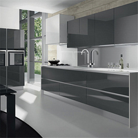 2019 High Quality Gray Matte Lacquer Modern Small Kitchen Design