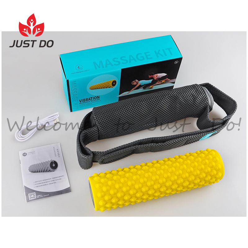 4 Speed USB Rechargeable PU Electric Vibrating Foam Roller
