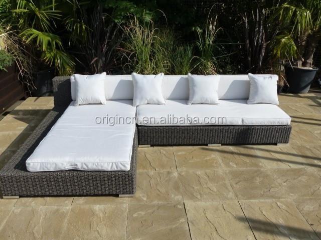 088 cama tatami japonés diseñado patio exterior sofá en forma de L ...