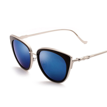 d2d7304843c3 2018 New Fashion Brand Designer Sunglasses Women Mirror Sun Glasses Men  Metal Male Female Cat Eye