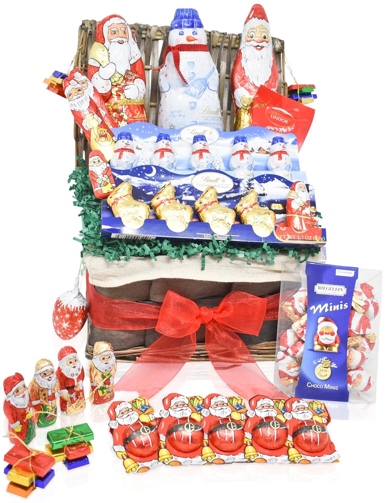 Lindt Valentine's Day Chocolate Variety Gift Basket - Lindt Chocolate Specials - Mixed Gift Pack for Him and Her