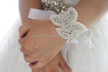 Cerimonia nuziale nuziale del cinturino dell orologio strass
