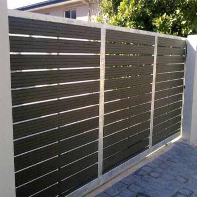 Estándar Americano Patio Terraza Aluminio Color Listón