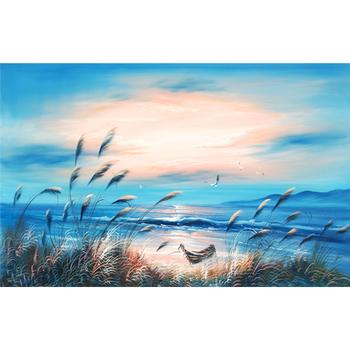 Beautiful ocean seascape oil painting