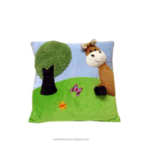 Best price top quality Suntown soft stuffed plush diy cartoon printing trees pillow toys,plush square pillow