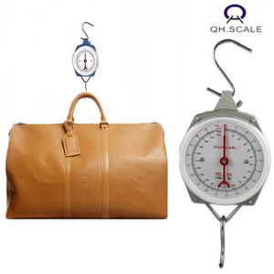 50kg spring type battery free hanging mechanical weighing scale for luggage with pointer needle