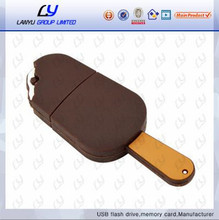 PVC ic cream shape usb flash drives, customed logo usb pen drive, factory price usb disk