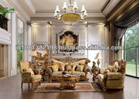 French Style Antique Living Room Sofa Set NFLS29