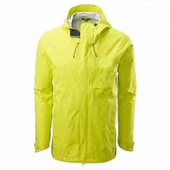 Men's lightweight hiking waterproof rain jacket with detachable hood