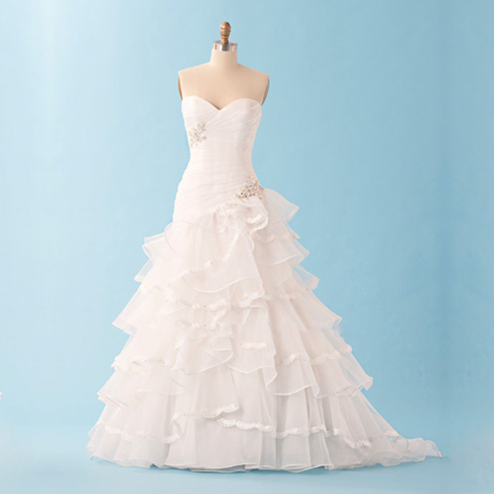 Make Your Own Wedding Dress: Make Your Own Beautiful A Line Floor Length Court Train