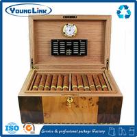 Custom high quality wooden cigar storage box