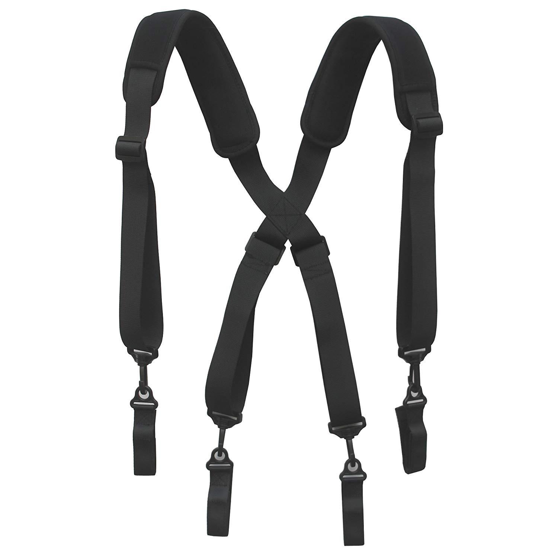 YYST Tool Belt Suspender Duty Belt Suspender Tool Harness with Neoprene Comfortable Pad - 4 Loop Attachments