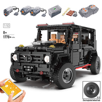 RC SUV Compatible Legoinglys Technic 20100 MOC 2425 SUV G500 AWD Wagon Car Sets Building Blocks Toys Gift for kids children