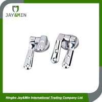 zinc alloy with chromed polished toilet seat cover hinges