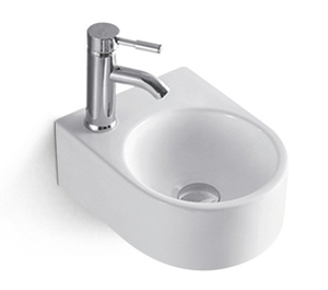 Bathroom Wall Hung Small Size Ceramic Hand Wash Basin for Project
