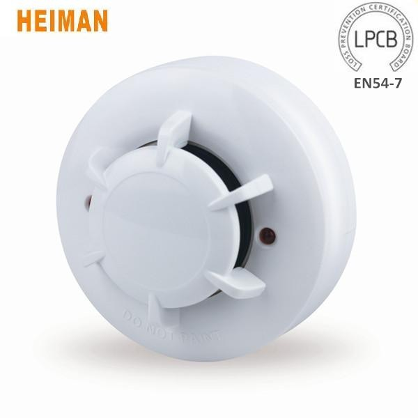 Heiman LPCB EN54-7 Approved Photoelectric Electric Smoke Detector