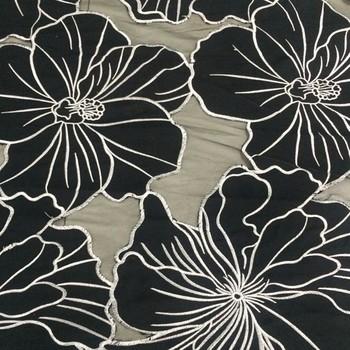 China wholesale market black lotus flower laser cut embroidery china wholesale market black lotus flower laser cut embroidery polyester african lace fabrics 5 yards mightylinksfo