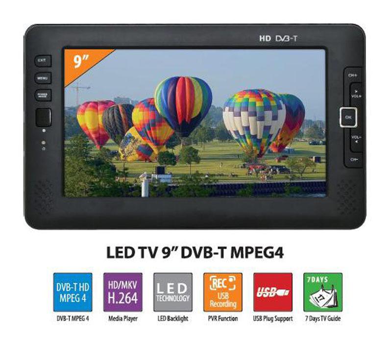 12v 7 Inch Mini Tv Lcd Dvb-t Mpeg4 Portable Hd Tv 7inch 9inch ...