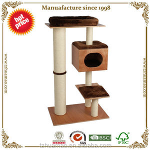 Huamao eco-friendly pet products &cat tree with cushion