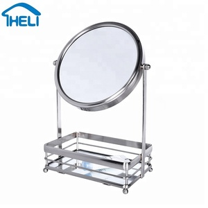 Table double sided cosmetic mirror, colorful magnifying mirror