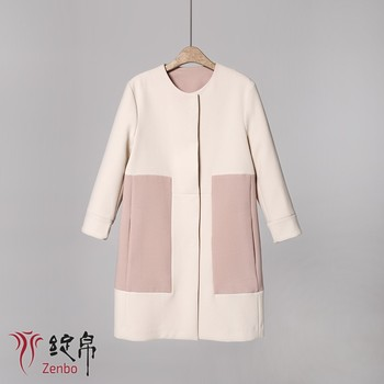 Crepe bonding with GGT elegant coat for lady long sleeves piping inside Italian quality 2018 new season