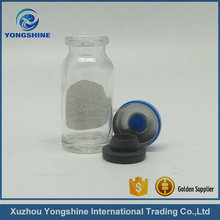 7ml 8ml 10ml clear reagent glass bottle with butyl rubber for human injection
