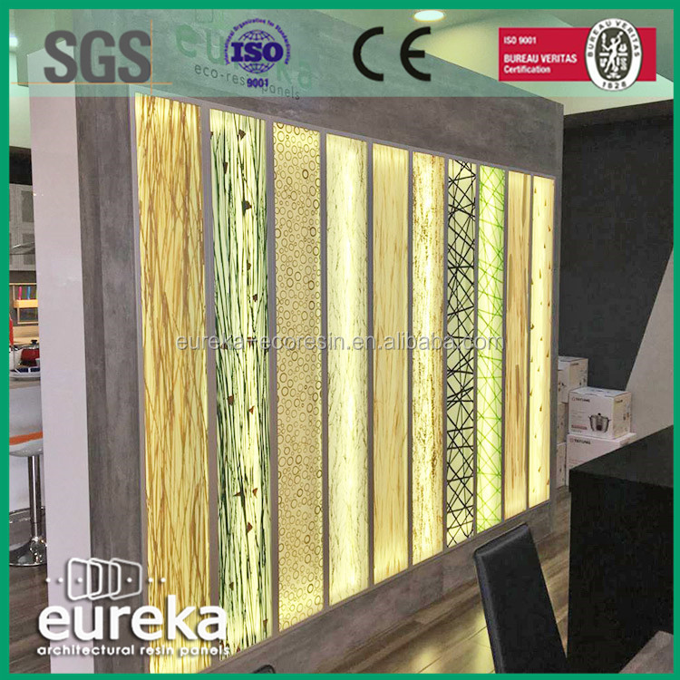 Hotel Wall Division plant laminated translucent resin <strong>panel</strong>