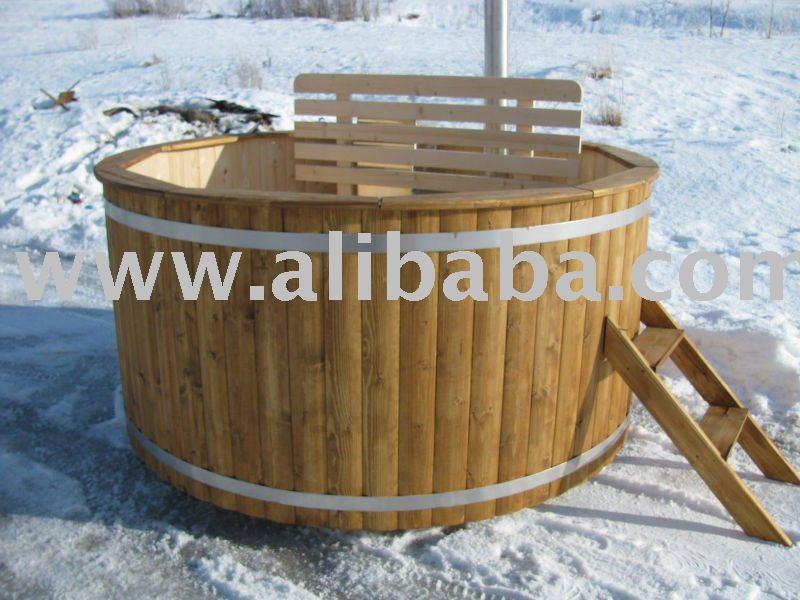 holz beheizten badebottich holz whirlpool kaminofen hottub badewanne produkt id 107935750. Black Bedroom Furniture Sets. Home Design Ideas