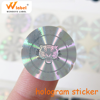 Custom beautiful hologram stickers printing High Quality Logo 2D 3D Laser Security Label