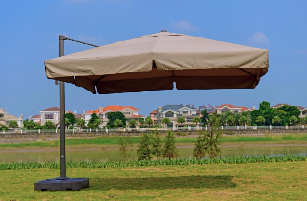 2017 Hot Sale Outdoor Solar Beach Umbrella 2.5 M Square Patio Umbrella