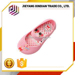 2017 fashionable new design jelly baby girl shoes stylish good-looking sandals