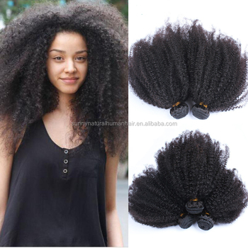 Top quality wholesale afro kinky curly natural human hair 100% unprocessed raw ethiopian virgin hair
