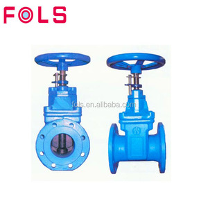 "wheel handle cast iron rising stem 4"" inch water gate valve"