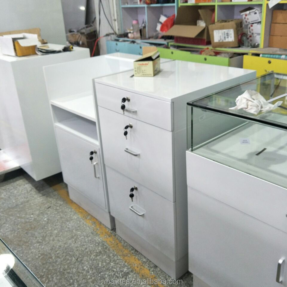 Wholesale glass white vitrine jewelry display cabinet for jewelry shop