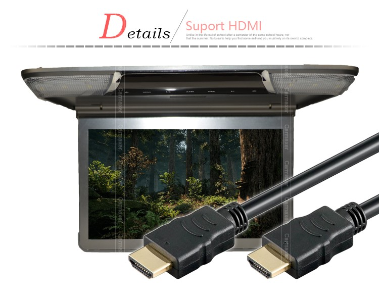 slim high screen 1080p bus roof mounted led monitor 13.3 /11.6 inch roof mount monitor