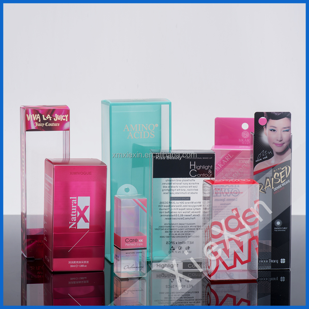 PVC Nail Polish cosmetic gift display packaging boxes with window