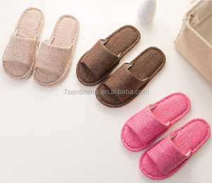 Lovers of Japanese bulk slippers with nature linen fabric various colors