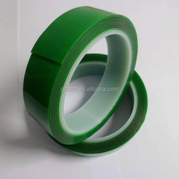 Transparent color Green liner double sided acrylic foam tape,AF tape
