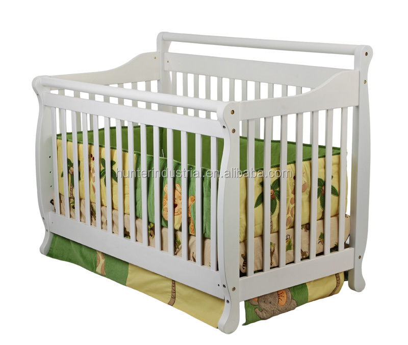 White Pine Wood Baby Crib