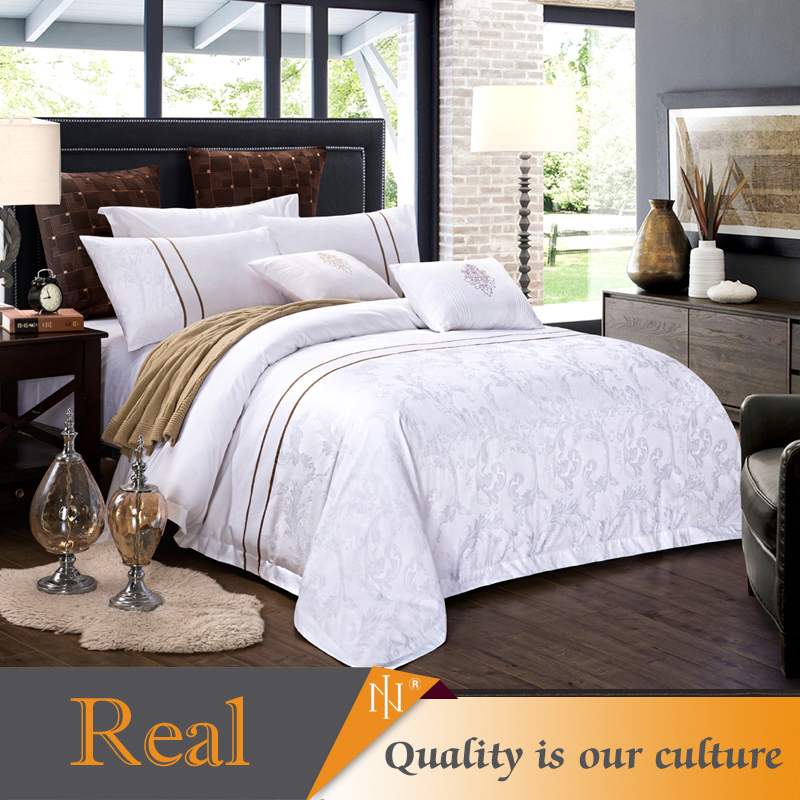 elegant classic 100% cotton bed hotel provide bedding