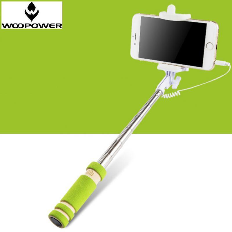 Woopower 2016 Портативный Мини Складной Мобильный Телефон Проводной Селфи Палки Для Iphone Samsung Встроенный Затвор Камеры, Штатив, Монопод