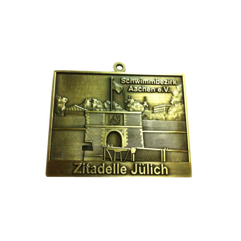 Factory 3d cut antique gold plating army war military revolution liberation day medals