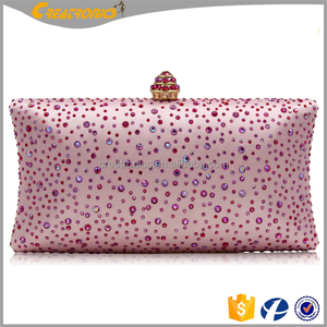 Luxury ladies hard case peacock clutch bag colorful fashion crystal clutch bags wholesale