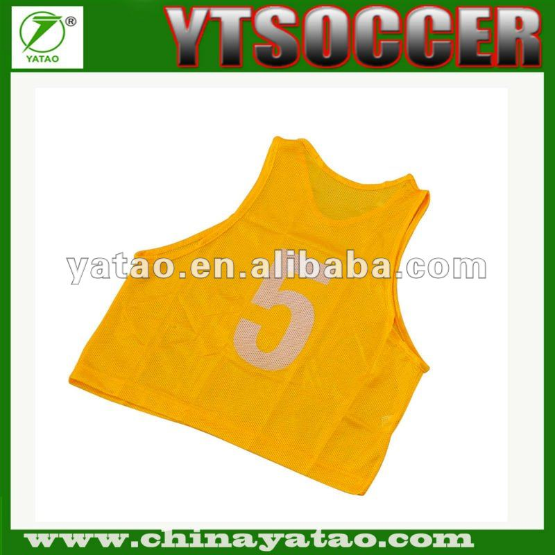 Numbered Mesh Football Training Vest Vest