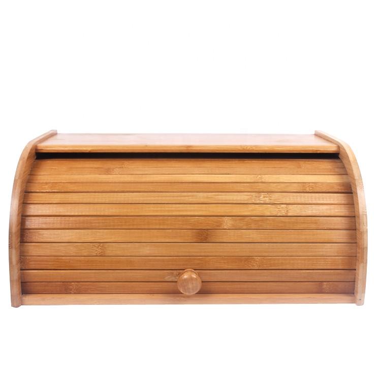 Hecho a mano de bambú pan cajas para cocina rollo de Pan grande cocina caja de almacenamiento de alimentos